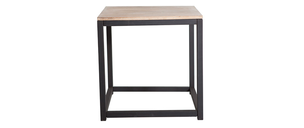 FACTORY Industrial Wood and Metal Coffee Table