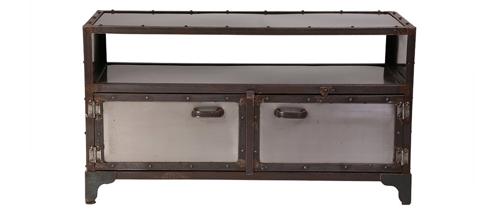 FACTORY Metal Industrial 2 Door TV Stand