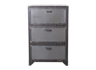 FACTORY Metal Industrial Shoe Cabinet/Chest of Drawers