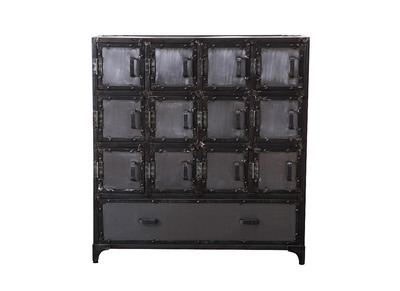 FACTORY XL Metal Industrial Shoe Cabinet/Chest of Drawers