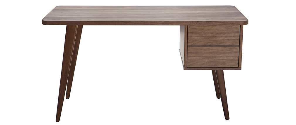 FIFTIES designer walnut desk L140 cm