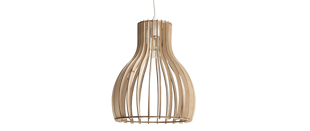 FIJI designer light wooden pendant lamp 28cm diameter