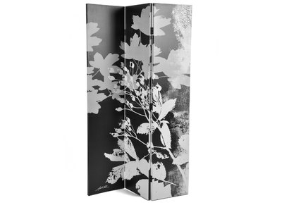 FLORA Modern Fabric and Wood Screen