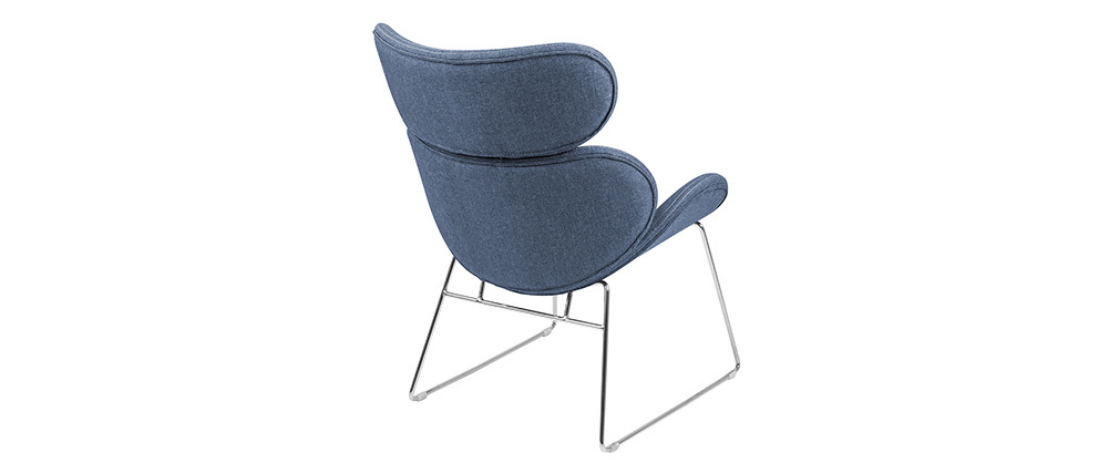 GABRIEL contemporary dark blue armchair