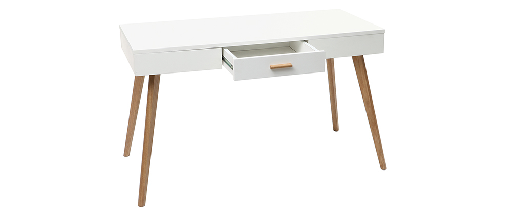 GILDA 120cm oak and white console table