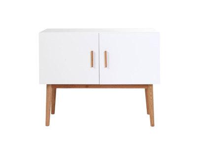 GILDA White Natural Wood Modern 2 Door Sideboard