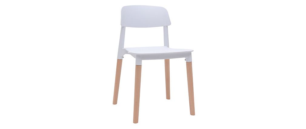 GILDA White Scandinavian Style Chair (set of 2)