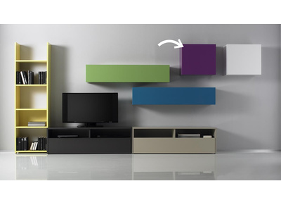 Glossy Lilac Square Wall Unit COLORED