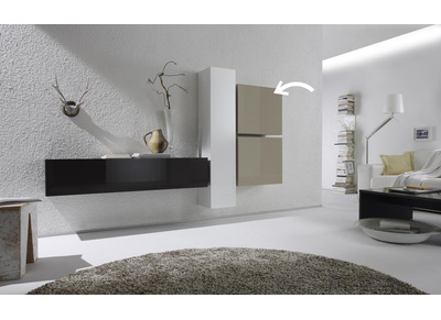 Glossy Off-White Square Wall Unit COLORED
