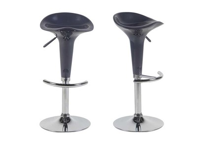 Glossy Plum Modern Bar Stools GALAXY (set of 2)
