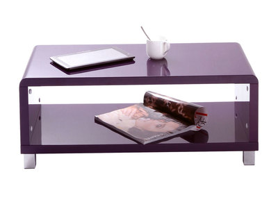 Glossy Purple Modern Coffee Table ROXY