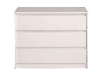 Glossy White 3 Drawer Chest ALPHA
