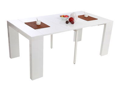Glossy White Modern Extending Console Table CALEB