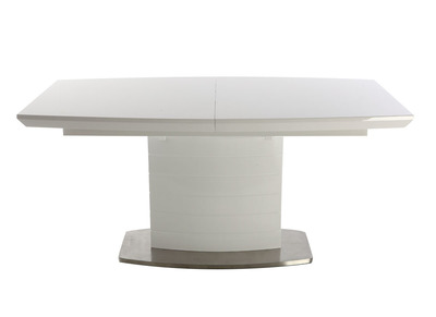 Glossy White Modern Extending Dining Table (160x200 cm) ERESOS