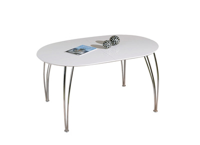 Glossy White Modern Extending Dining Table OXANE