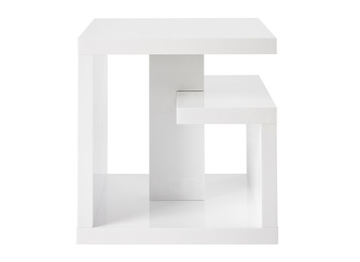 Glossy White Modern Side Table HALTON