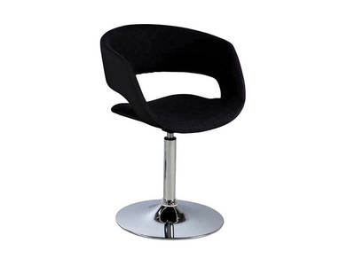 GRAVIT V2 designer black and anthracite grey faux leather chair