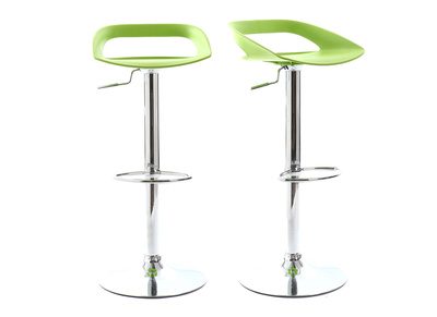 Green Modern Bar Stool PHENIX (set of 2)
