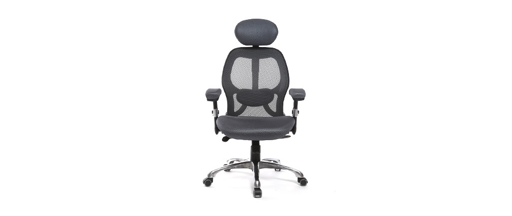 Grey ergonomic office chair ULTIMATE V2 plus