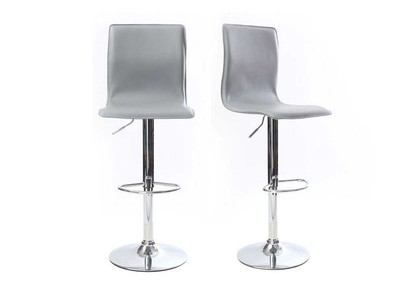 Grey Modern Bar/Kitchen Stools SURF ALTO (set of 2)