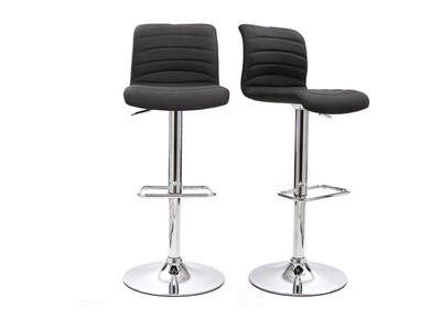 Grey Modern Bar Stool ICHOR (set of 2)