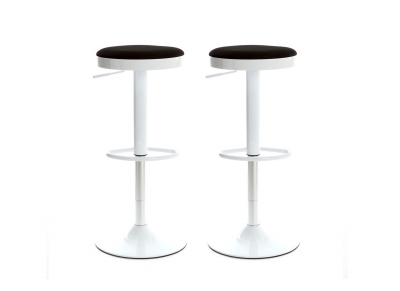 Grey Modern Bar Stool JANUS (set of 2)