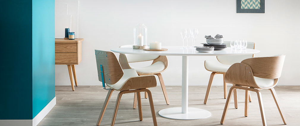HALIA White Modern Dining Table L169