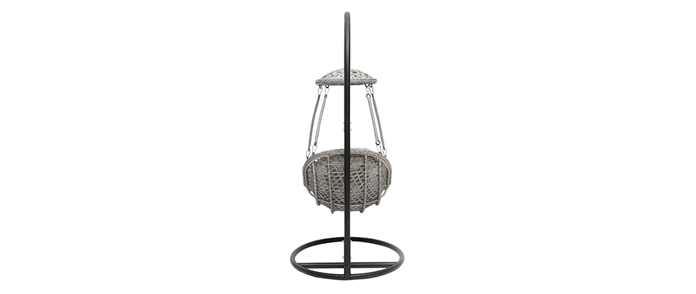 Hanging grey egg chair metal base BALI