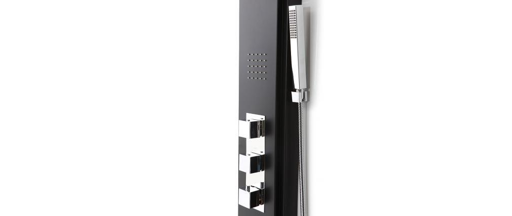 HELGA Black Thermostatic Shower Column