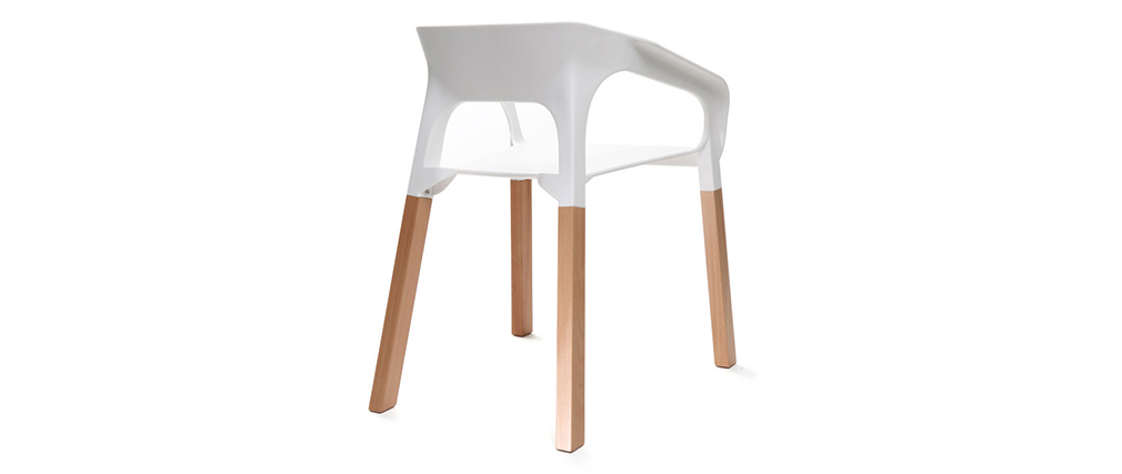 HELIA White Scandinavian Style Chair (set of 2)