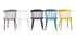 HOLLY set of 2 designer grey indoor/outdoor spindle-back chairs