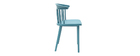 HOLLY set of 2 designer teal indoor/outdoor spindle-back chairs