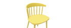 HOLLY set of 2 designer yellow indoor/outdoor spindle-back chairs