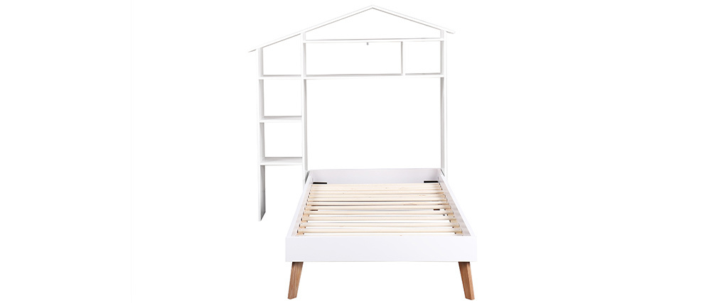 HOME children?s bed and headboard with storage