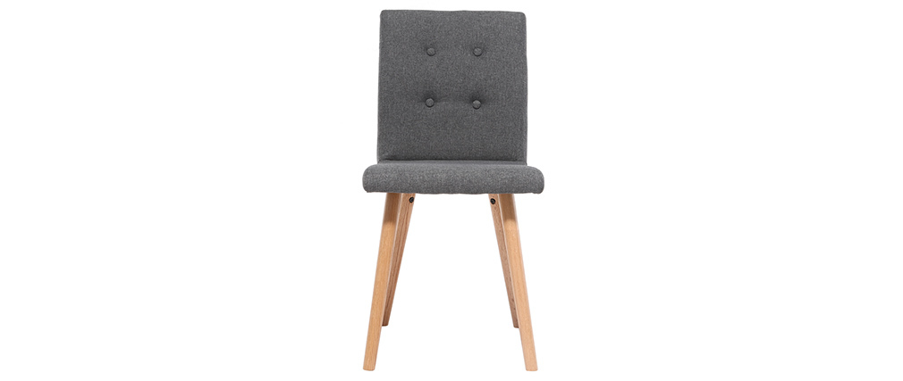 HORTA set of 2 designer chairs in anthracite grey and oak