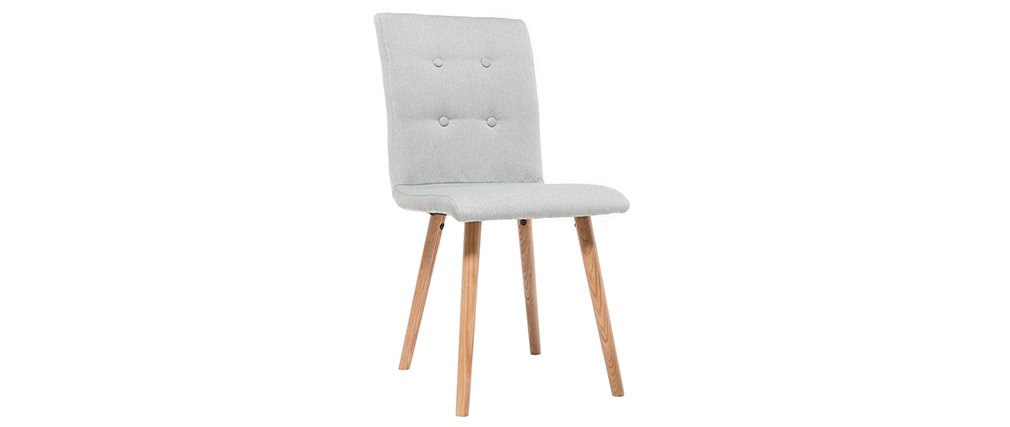 HORTA set of 2 designer chairs in light grey and oak