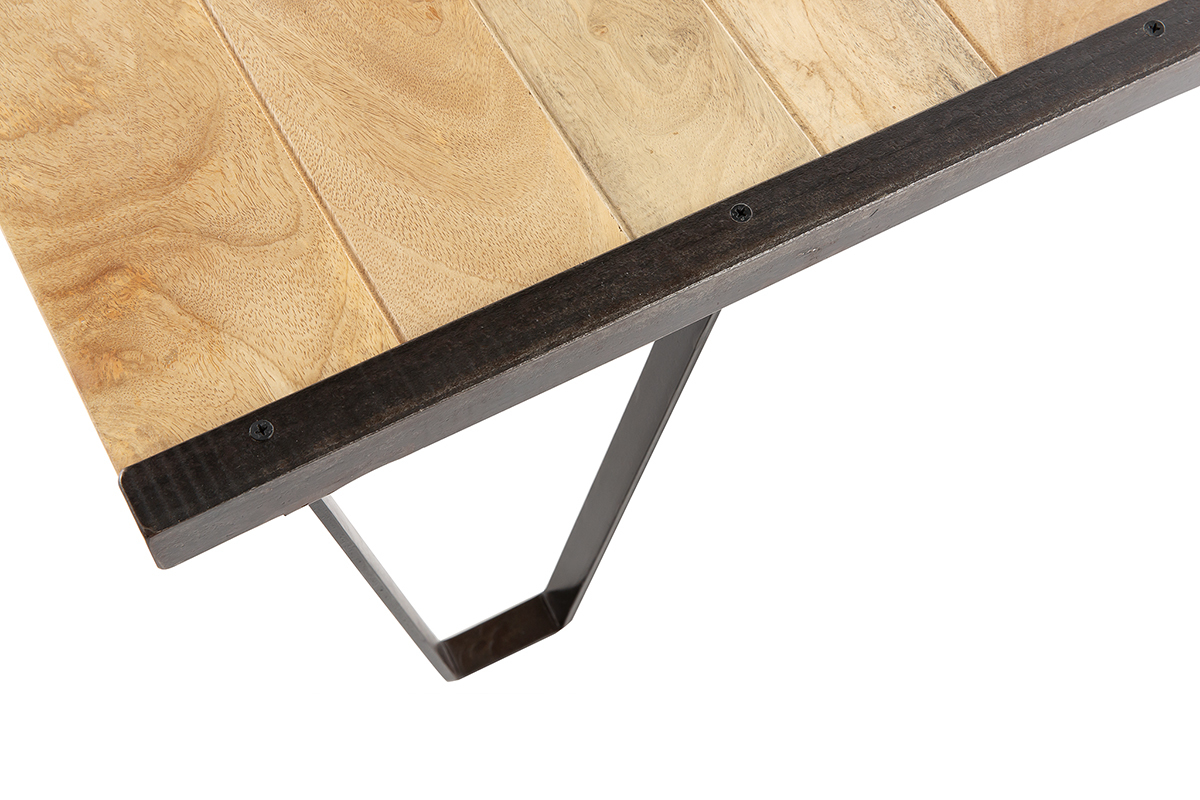 INDUSTRIA Industrial Solid Wood Coffee Table