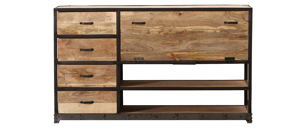 INDUSTRIA Solid Wood Industrial Sideboard