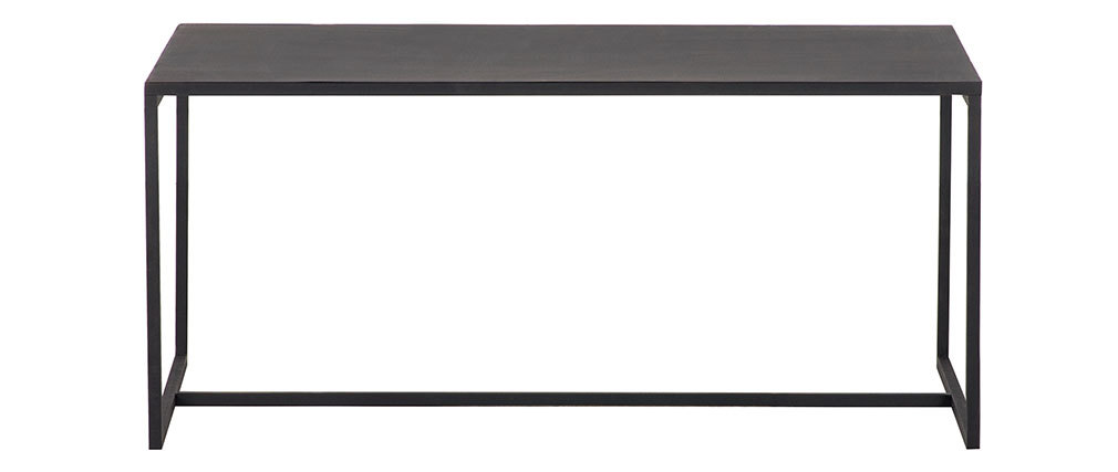 Industrial black metal coffee table KARL