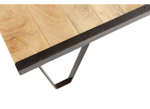 Industrial coffee table in solid wood INDUSTRIA