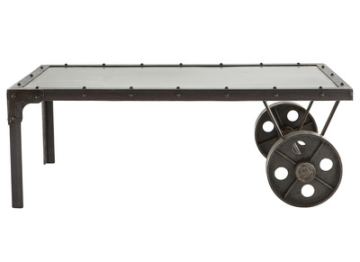 Industrial Metal Coffee Table CHARIOT