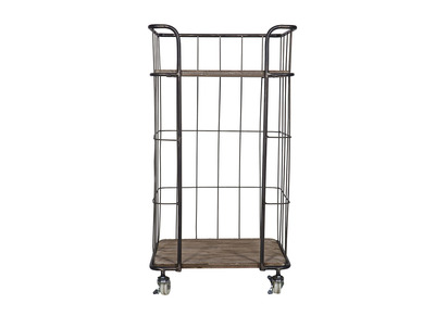 Industrial Metal Small Bookcase 88cm MANUFACTURE