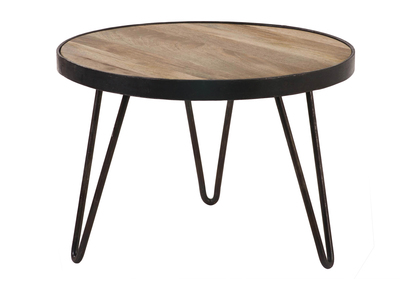 Industrial Round Coffee Table (50x35 cm) ATELIER