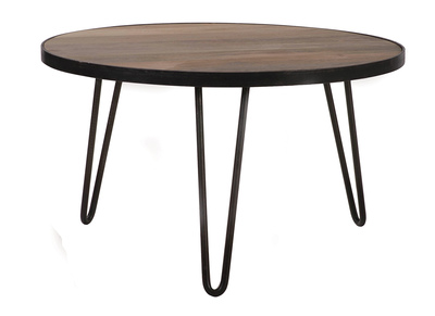 Industrial Round Coffee Table (80x45 cm) ATELIER