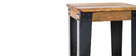 Industrial steel and wood bar stool 75 cm MADISON