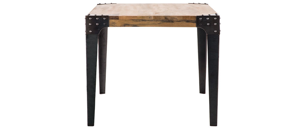 Industrial steel and wood dining table 160 cm MADISON