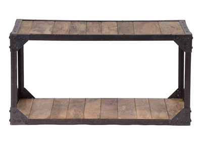 Industrial Wood and Metal Coffee Table ATELIER