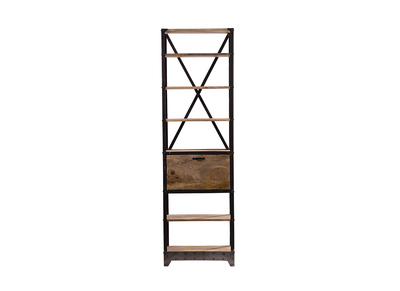 Industrial Wood and Metal Shelving Unit ATELIER