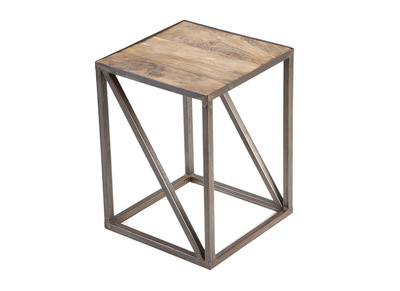 Industrial Wood and Metal Side Table ATELIER