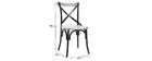JAKE industrial black metal and wooden chairs (set of 2)